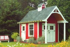 Build a New Storage Shed with One of These 23 Free Plans: Free Shed Plan for a Schoolhouse Storage Shed Backyard Sheds, Outdoor Sheds, Garden Sheds, Backyard Buildings, Free Shed Plans, Shed Building Plans, She Sheds, Potting Sheds, Shed Storage