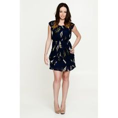 Sophie Feather Dress Blue
