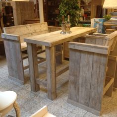 Bar tafel stoel bank