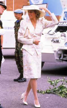 Princess Diana at the barracks of the 13th and 18th Royal Hussars Regiment, Tidworth, Wiltshire, Britain - Jul 1987