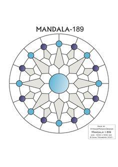MANDALA-189 Stained glass pattern, Mosaic pattern, Painting glass pattern, to DOWNLOAD PDF, Suncatcher, Window panel, Window handing ויטראז by VitrageMosaicDesign on Etsy