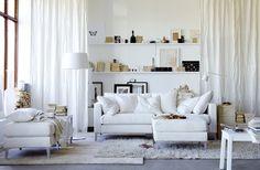 the lounge - perfect white :)   La maison d'Anna G.: Hans Blomquist