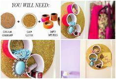Chalkboard Cubbies / 25 Clever DIY Ways To Keep Your Jewelry Organized (via BuzzFeed)