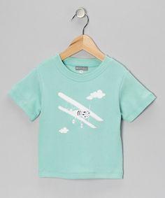 Teal Airplane Tee - Infant