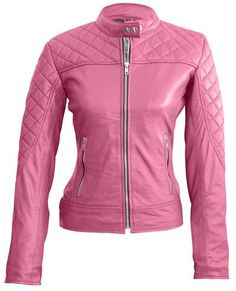Leather Skin Shop is the only online store that offers Real Genuine Leather Jackets for Women of all ages. Pick your favorite color be it, Red, Yellow, White or other and on your style game! Plus Size Leather Jacket, Purple Leather Jacket, Studded Leather Jacket, Pink Leather, Leather Jackets, Real Leather, Leather Coats, Pink Jacket, Purple Quilts
