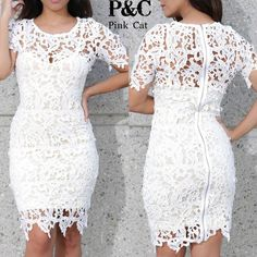 Find More Dresses Information about Plus Size Women Hollow Out Crochet Lace Bodycon Dress Celebrity Style Summer Women  White Vintage Embroidery  Floral Midi Dress,High Quality dresses 50s,China dress silhouettes Suppliers, Cheap dress measurements size chart from pinkcat apparel wholesale dropshipping on Aliexpress.com
