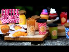 DIY Miniature Coffee, Croissants, Cupcakes and Muffins Tutorial for Polymer Clay or Fimo