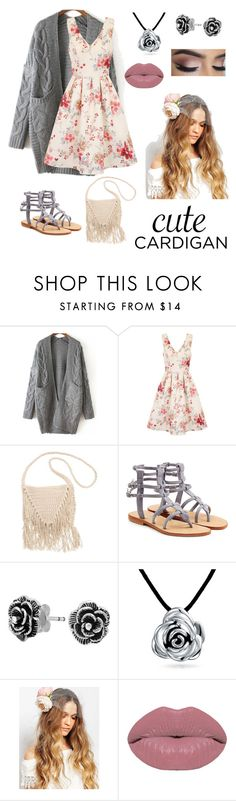 """""""Grays and roses"""" by eleganth ❤ liked on Polyvore featuring WithChic, Chi Chi, Billabong, Mystique, Bling Jewelry, Orelia, Winky Lux, cutecardigan and springlayers"""