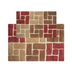 Chesapeake Berkeley Bricks Tufted 2-pc. Bath Rug Set, Red
