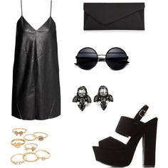 Untitled #869 by joleen2310 on Polyvore featuring polyvore fashion style H&M Charlotte Russe Accessorize Matthew Williamson Mudd