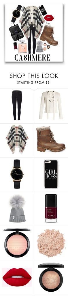 """Winter Walk"" by abi-rhia ❤ liked on Polyvore featuring River Island, Joseph, Burberry, Steve Madden, Freedom To Exist, Casetify, MAC Cosmetics, La Mer and Aspinal of London"