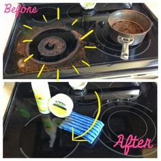 Safe cleaning! Non toxic and effective. Cleaning a glasstop stove