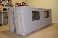 Repurposed flat sheet to childrens' cubby house | Cook You Some Noodles