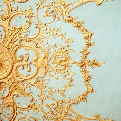 White and gold decorations