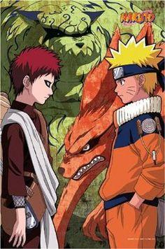 Gaara and Naruto Uzumaki