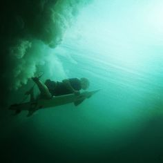 Under the water ...