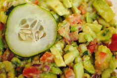 A Color Filled Soul: Healthy Recipe, Avocado cucumber salad