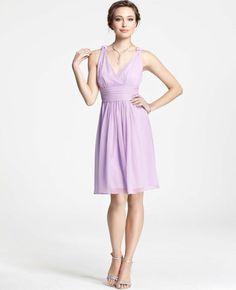 Silk Georgette Knot Shoulder Dress