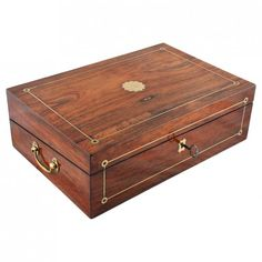Rosewood Veneered Box Desk