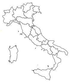 Cartina Italia Regioni Da Stampare Per Bambini.10 Idee Su Regioni Italiane Disegni Da Colorare Geografia Mappa Dell Italia