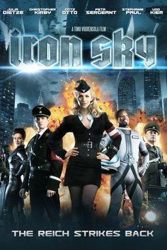 Iron Sky Movie Poster - Julia Dietze, Udo Kier, Peta Sergeant  #IronSky, #MoviePoster, #ActionAdventure, #TimoVuorensola, #JuliaDietze, #PetaSergeant, #UdoKier