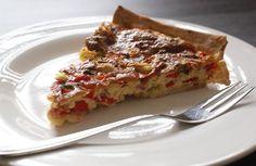 Quiche met paprika en ham - More than cooking