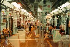 Subway Double Exposure - Shanghai 2012