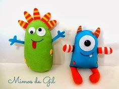 Learn about fabric dolls Sock Crafts, Baby Crafts, Cute Crafts, Felt Crafts, Felt Monster, Monster Toys, Baby Toys, Kids Toys, Ugly Dolls