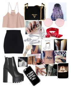 """Untitled #398"" by pretty-little-lairs-true-love ❤ liked on Polyvore featuring TIBI, Prada, LMNT, Happy Plugs and Lime Crime"