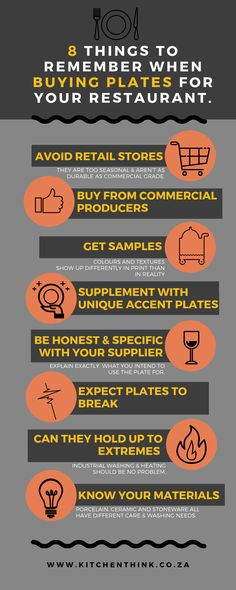 8 important tips on buying plates for your restaurant. Make sure you know exactly what you need from your food business crockery before you invest in a new seasons plate purchase. Restaurant Plates, Money Saving Tips, Investing, Management, Seasons, Big, Business, How To Make, Stuff To Buy