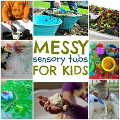 Messy sensory tub ideas!!