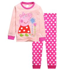 Peppa Pig Girls Toddler Pajamas Set Costume Sleepwear T-shirt Tops+Trousers 2-7Y in Clothing, Shoes & Accessories | eBay