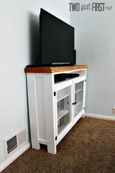 Diy Furniture Nightstand, Diy Furniture Easy, Tv Furniture, Repurposed Furniture, Furniture Ideas, Repurposed Wood, Recycled Wood, Pallet Furniture, Build A Tv Stand