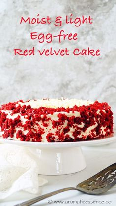 Step by step pictorial recipe for moist, light and insanely delicious eggless Red velvet cake with cream cheese frosting. Eggless Red Velvet Cake, Bolo Red Velvet, Red Velvet Cupcakes, Eggless Desserts, Eggless Recipes, Eggless Baking, Cooking Recipes, Cake With Cream Cheese, Cream Cheese Frosting