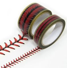 Are you kidding me???? Baseball stitches design tape set. AMAZING!!! by dollie