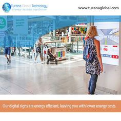 Our #digitalsigns are #energy #efficient, leaving you with lower #energy #costs. #TucanaGlobalTechnology #Manufacturer #HongKong