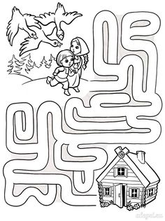 Puzzle Coloring Pages Mazes For Kids Printable, Fun Worksheets For Kids, Free Kindergarten Worksheets, Math For Kids, Preschool Worksheets, Lessons For Kids, Preschool Learning Activities, Preschool Activities, Kids Learning