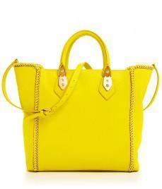 bright yellow tote
