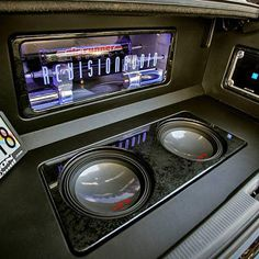 alpine car audio custom install trunk plexi sub enclosure compressor airride