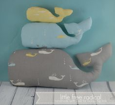 Storyboek Whales organic cotton softies family filled with love and bamboo  Ecofriendly by LittleFreeRadical, $45.00