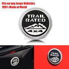 3D Metal Car Badge Stickers Logo Trail Rated Nameplate for Jeep Liberty Wrangler