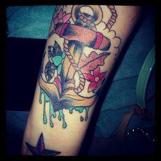 New tattoo. #freshink #tattoo #anchor #love
