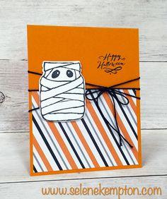 Sneak Peek, Stampin' Up! Jar of Haunts, Happy Halloween Mummy Jar Card