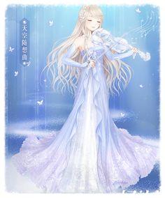 images for anime Beautiful Anime Girl, Anime Love, Manga Art, Anime Art, Anime Fashion, Chibi, Kleidung Design, Anime Princess, Anime Dress