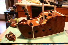 Gingerbread Pirate Ship by Twaliger.deviantart.com on @deviantART