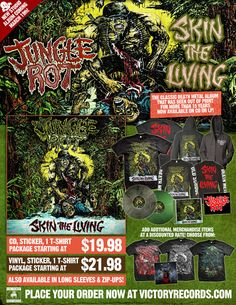 JUNGLE ROT ANNOUNCE THE RE-ISSUE OF SKIN THE LIVING