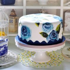 The first cake in the Juniper Cakery and The Happy Egg Co. partnership!