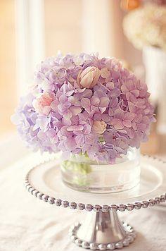 21 Ideas For Flowers Arrangements Decor Ana Rosa Simple Flowers, My Flower, Fresh Flowers, Beautiful Flowers, Lilac Flowers, Ikebana, Deco Floral, Floral Design, Hortensia Hydrangea
