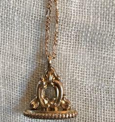 Antique Victorian Rose Gold Pocket Watch Fob by VintagePoetlandia, $65.00