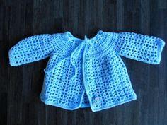 gehaakt vest licht blauw